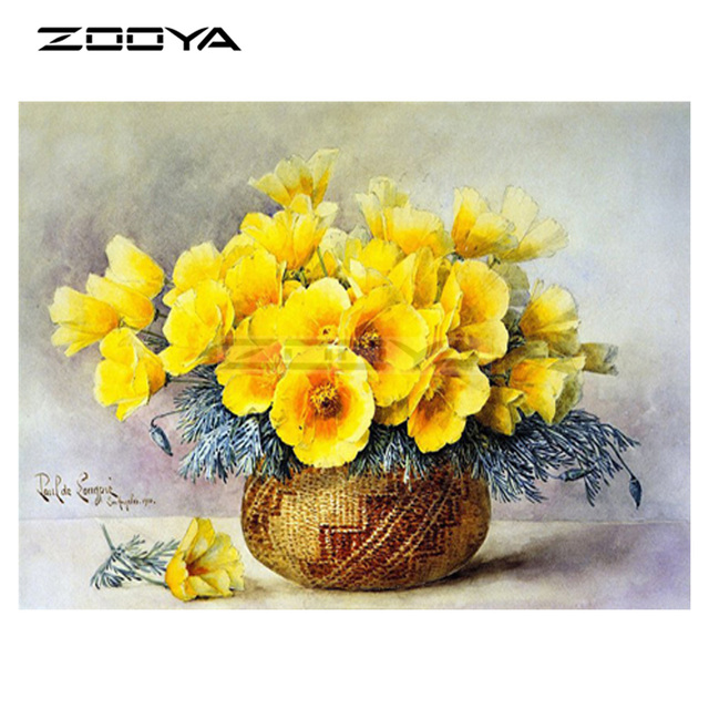 Zooya 5d diy diamond embroidery yellow flower flower basket diamond zooya 5d diy diamond embroidery yellow flower flower basket diamond painting cross stitch round drill mosaic mightylinksfo