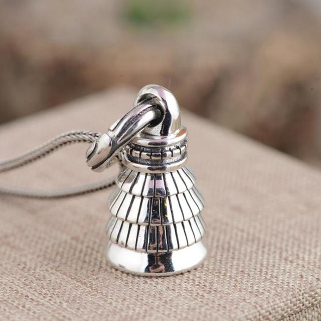 Xiangyuan wholesale sterling silver s925 silver pendant antique xiangyuan wholesale sterling silver s925 silver pendant antique crafts buddhist culture artifact bell evil pendant aloadofball Images