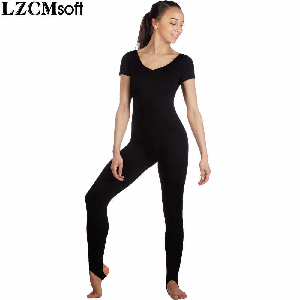 Lzcmsoft Nylon Women Cap Sleeves Dance Unitards Stirrup