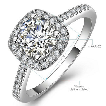 ZN 2019 New Cubic Zirconia Rings for Women Wedding Engagement Promise Statement Rings Fashion Jewelry