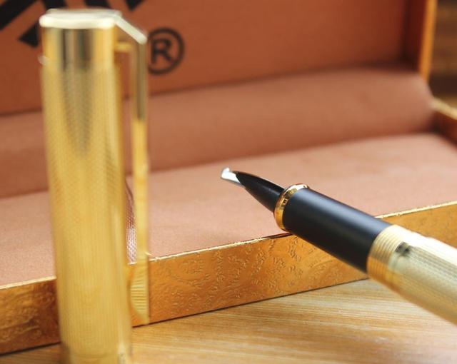 Venus All - metal fountain pen gothic art  pen Arabic Persian mijit calligraphy black golden  5 mm Multi-functional nib gift