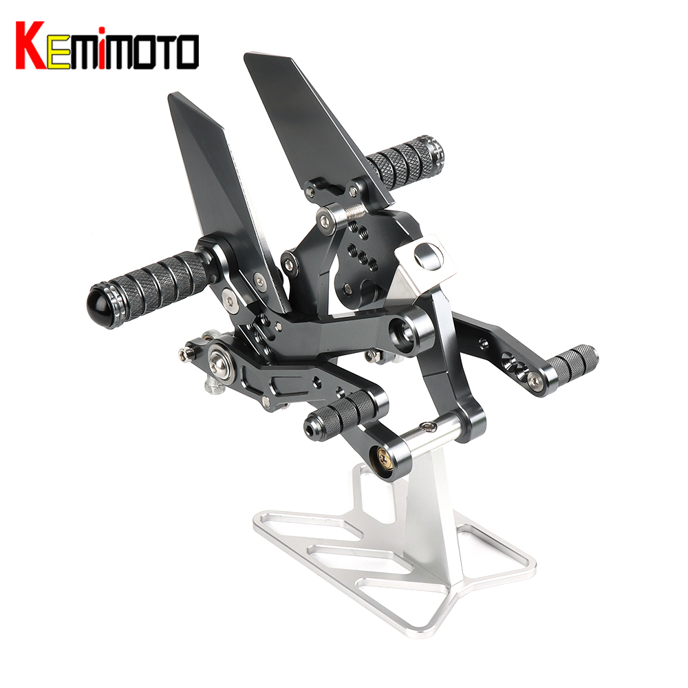 Footrest Rear Sets For Kawasaki Ninja 400 2018 2019 Motorcycle Accessories CNC Adjustable Rearset Footrest Foot Rest Pegs ABS