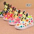 Детей Вскользь Shoes 2017 Мода Мальчики Спорт Shoes Baby Светодиодные Светящиеся Кроссовки Flasher Детские Снег Загрузки Размер 21-30