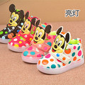 Girls Shoes Baby Fashion Mini Mouse Led Shoes Kids Light Up Luminous Sneakers Little Girls Princess Children Shoes With Light
