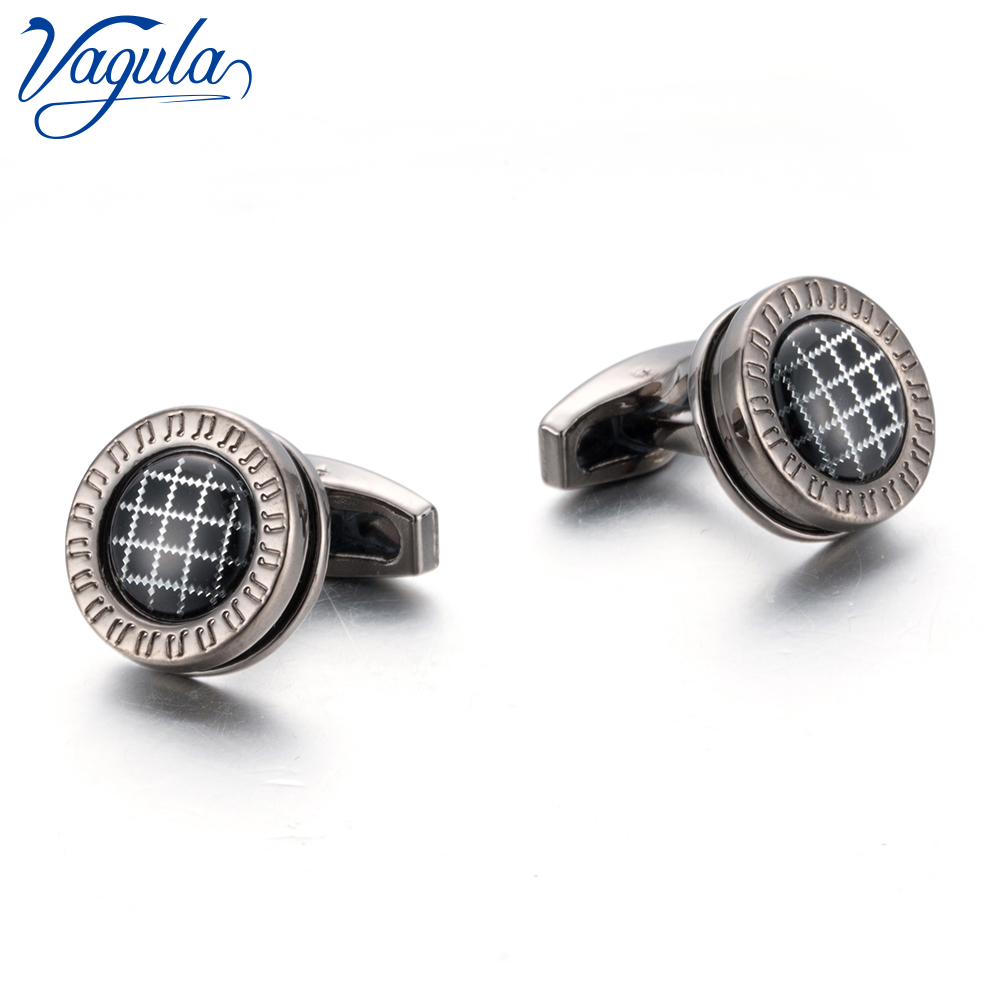 VAGULA Round Cufflinks Wedding Gift Suit Shirt Buttons Cuff links Top Luxury Brand Bonito Gemelos <font><b>10195</b></font> image