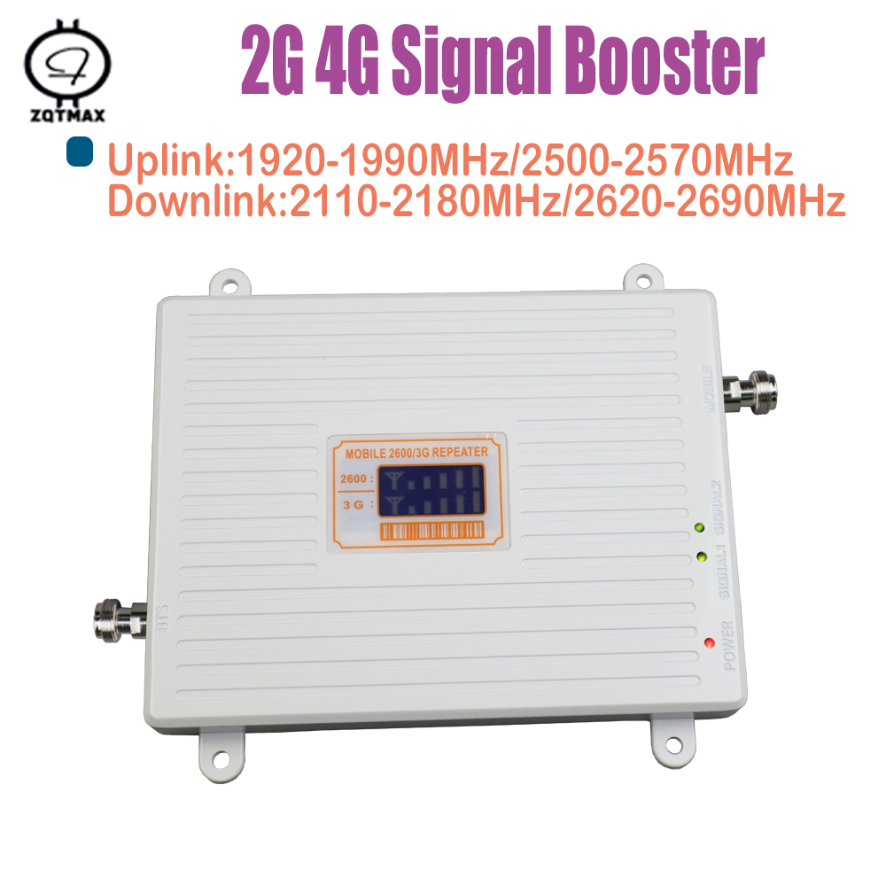 3g 4g Cell Phone Signal Booster For Home Amplifier Phone Booster 2100MHz 2600MHz 4g Cell Phone Signal Booster Data Signal Boost