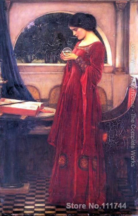 artwork for home Crystal Ball John William Waterhouse paintings Hand painted High quality