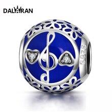 DALARAN 2019 Fashion Silver 925 Jewelry Sterling European Wonderful Notes Beads Fit Charm Bracelet Necklace For Women DIY