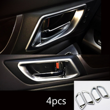 High quality For SUBARU OUTBACK 2015 2016 ABS Matte Inner Door Bowl Cover Sticker Car Styling accessories 4pcs стоимость