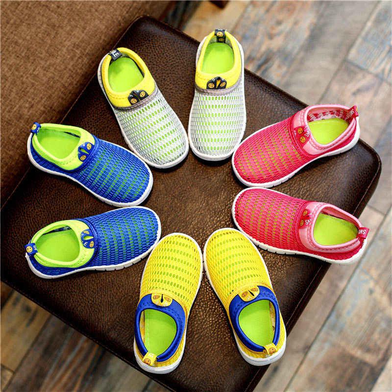 EABXZ Zomer 2019 Nieuwe Kinderen Sport Schoenen Jongens en Meisjes Baby Ademend Mesh ShoesRunning Kinderen Schoenen kinderen loafers licht up schoenen