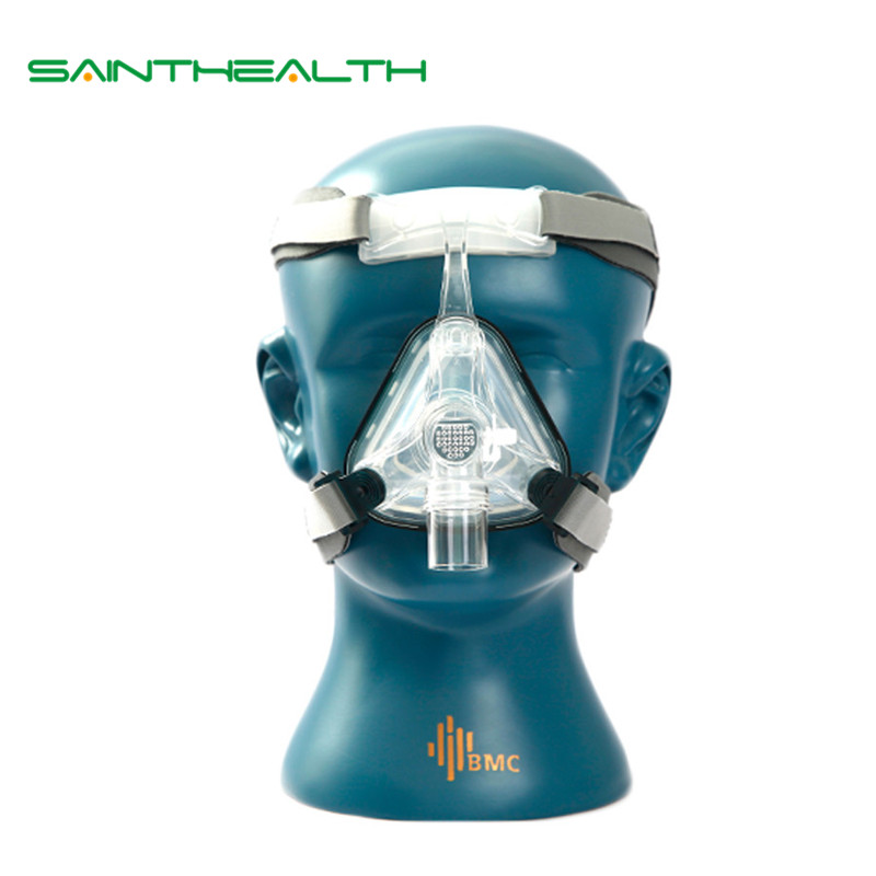 BMC NM1 Nasal Mask For CPAP Machine Use Sleep Snoring OSAS Therapy Size SML With Belt Cushion Clips Easy Cleaning Connect Hose doctodd gi cpap portable cpap respirator for sleep apnea osahs osas snoring people w nasal mask headgear tube bag etc