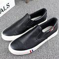 European style 2017 spring new men leather shoes fashion free shipping flat casual shoes breathable canvas men plus size 47 48