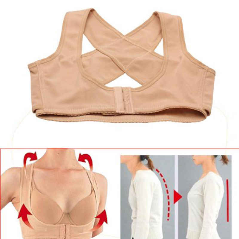Senhora Mulheres Corpo Peito Brace Suporte Belt Banda Posture Corrector X Tipo Voltar Shoulder Vest Roupas Protetoras