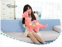 cute plush pink dinosaur toy cartoon spots dinosaurs doll gift about 50cm 0313