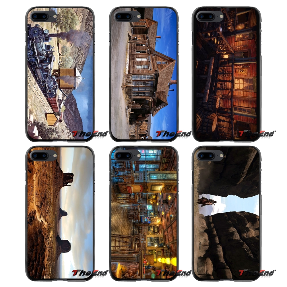 Old West Print Accessories Phone Shell Covers For Apple iPhone 4 4S 5 5S 5C SE 6 6S 7 8 Plus X iPod Touch 4 5 6