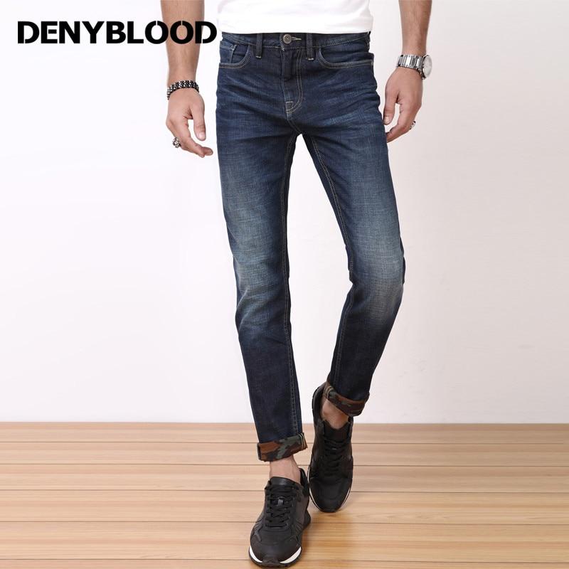 Denyblood font b Jeans b font font b Mens b font Stretch Denim Slim Straight Pants