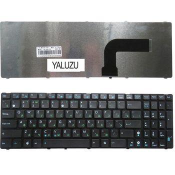 YALUZU RU черный новый для ASUS X52 X55A X52F X52J X52N X52JC X52DE X55 X55C X55U G72 G73 G72X G73J NJ2 клавиатура русская