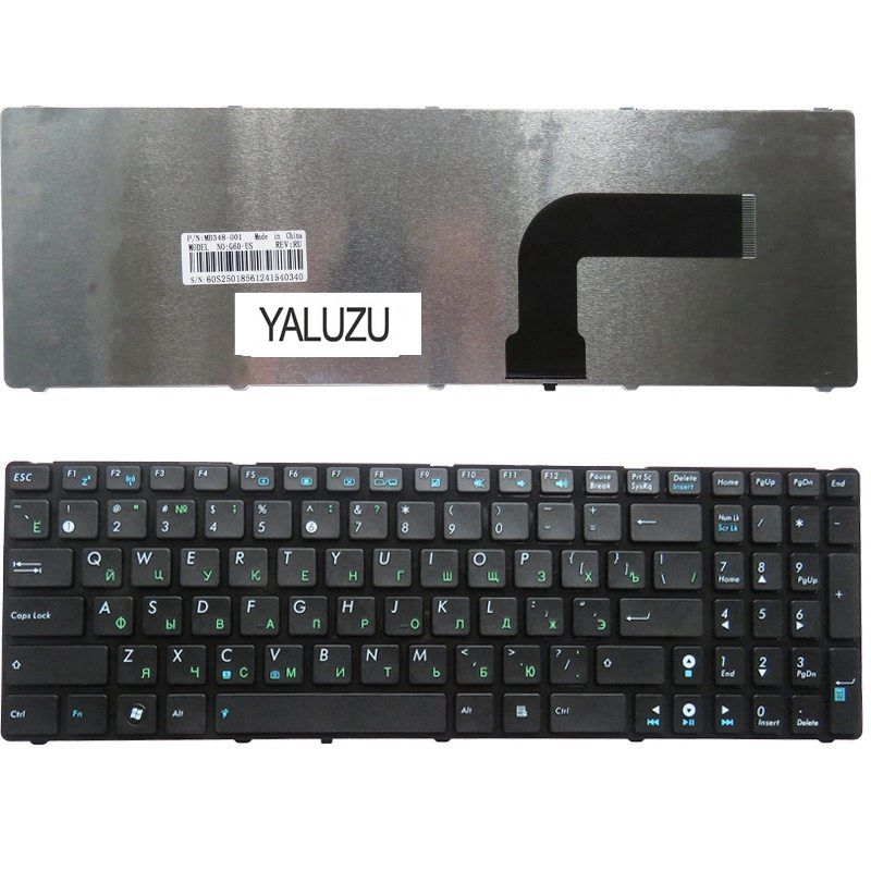 YALUZU RU Black New FOR ASUS X52 X55A X52F X52J X52N X52JC  X52DE X55 X55C X55U G72 G73 G72X G73J NJ2 Keyboard Russian
