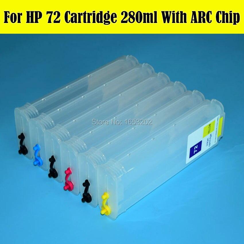 Чернильный картридж для HP, 280 мл, с чипом автоматического сброса, чернильный картридж для HP 72 72, дизайнерские чернила T620, T2300, T770, T790, T1200, C9403A, C9370A C9374A|ink cartridge|ink cartridge for hpcartridge for hp | АлиЭкспресс