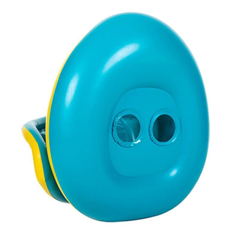 Children's Baby Swimming Ring Safety Inflatable Baby Yacht Pool Toys Baby Adjustable Shade Children's Toddler Pontoon