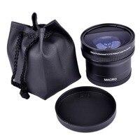 Super 0.21x 58mm HD Professional Fisheye Macro Wide Angle Camera Lens filters for Nikon Canon EOS 700D 650D 600D 550D 50D18 55mm