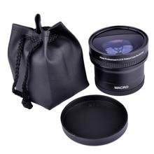 Super 0.21x58 millimetri HD Professionale Fisheye Macro Wide Angle Camera Lens filtri per Nikon Canon EOS 700D 650D 600D 550D 50D18 55mm