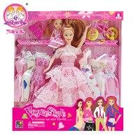 2015 sıcak Giydirdiği Barbie dolls için prenses düğün set bjd elbise tek takım her aile hediye çocuk kız doğum günü hediye