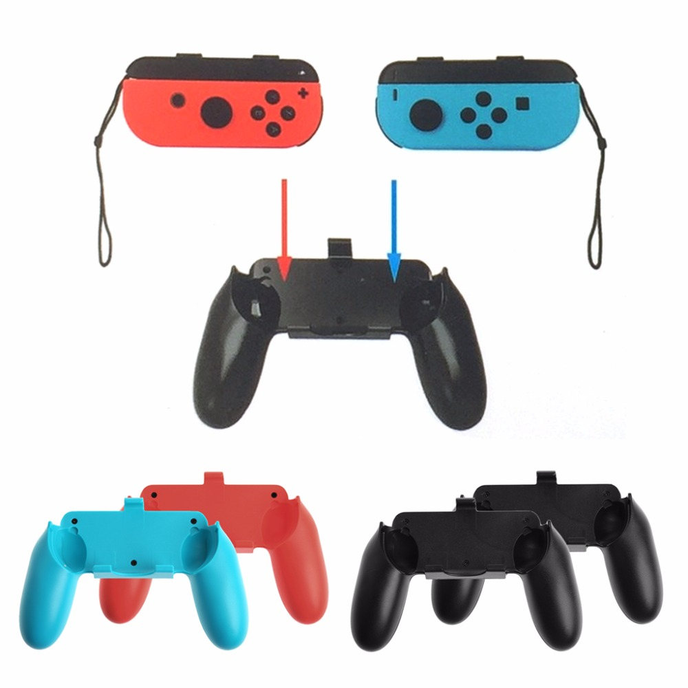 1 Set 2Pcs Hand Grip For Nintendo Switch NS Joy Con Holder Stand Controller Holder Bracket for nintend switch chargeable left right comfort hand grip holder for nintendo switch joy con ns handle grip controller charger