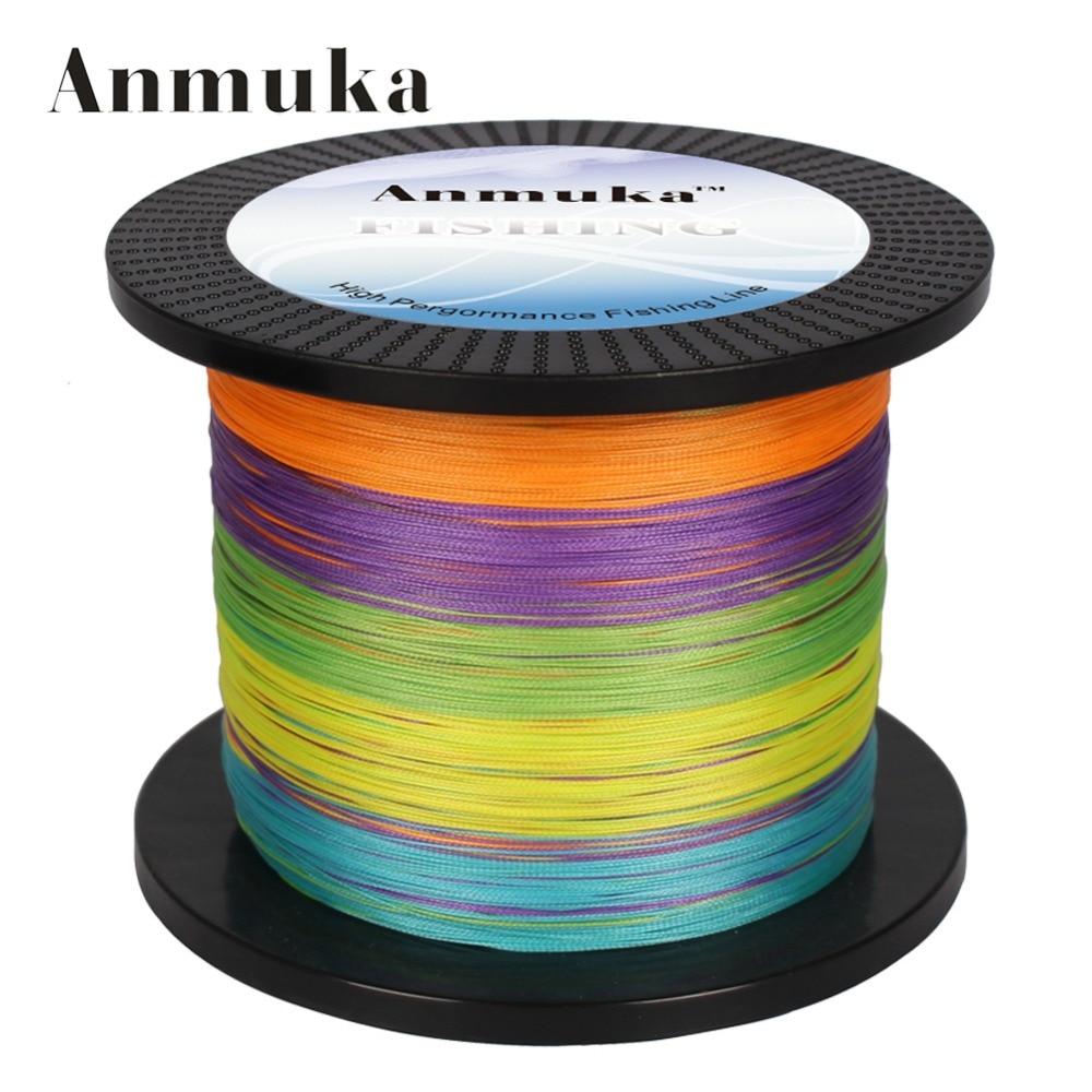 Anmuka brand fishing line 1000m pe multifilament braided for 80 lb braided fishing line