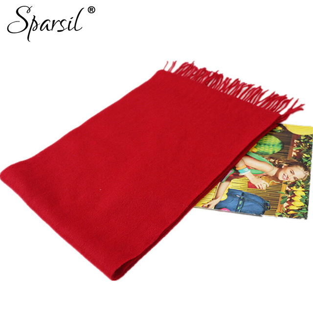 Women's Thermal Cashmere Blend Knitted Scarves Autumn Winter Solid Color Soft Comfortable Tassels Bufandas Christmas Gifts  C84