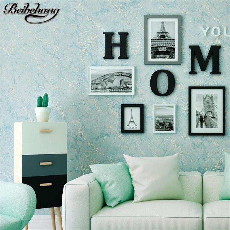 Beibehang chiné plaine non tissé tissu papier peint chambre plein étage salon canapé fond papier peint papel de pared