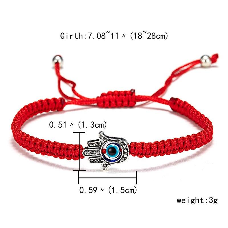 9 стилей плетеная красная нить на удачу Хамса браслет с подвесками на руку синий бисер, от сглаза браслет мода дружбы ювелирные изделия для женщин мужчин - Окраска металла: hamsa