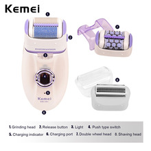 New 3 in 1 Rechargeable Electric Female Epilator for Underarm Bikini Hair Remover Women Facial Hair Razor Lady Shaver Depilatory