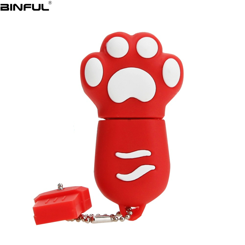 Image 4 - Hot Sale Cat Paw Usb Flash Drive 32GB 64GB 128GB Pendrive 4G 8GB 16GB Lovely Cartoon Pen Drive High Quality Silicone Memoria Usb-in USB Flash Drives from Computer & Office