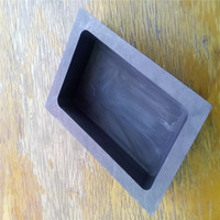 160x50x38mm Graphite Tank Squre Crucible For Melting Casting