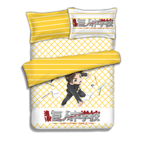 Japanese Anime Attack on Titan Eren Jaeger Bed sheets Bedding Sheet Bedding Sets Bedcover Quilt Cover Pillow Case 4PCS