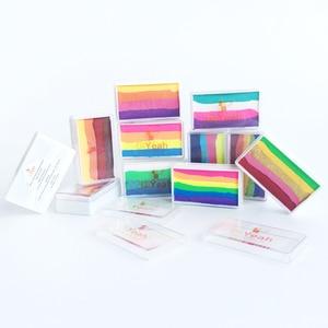 Image 5 - DiYeah 11 色虹ボディフェイスメイク塗装顔料 30 グラムボディーアートハロウィンネオン UV メタリック分割ケーキプロ