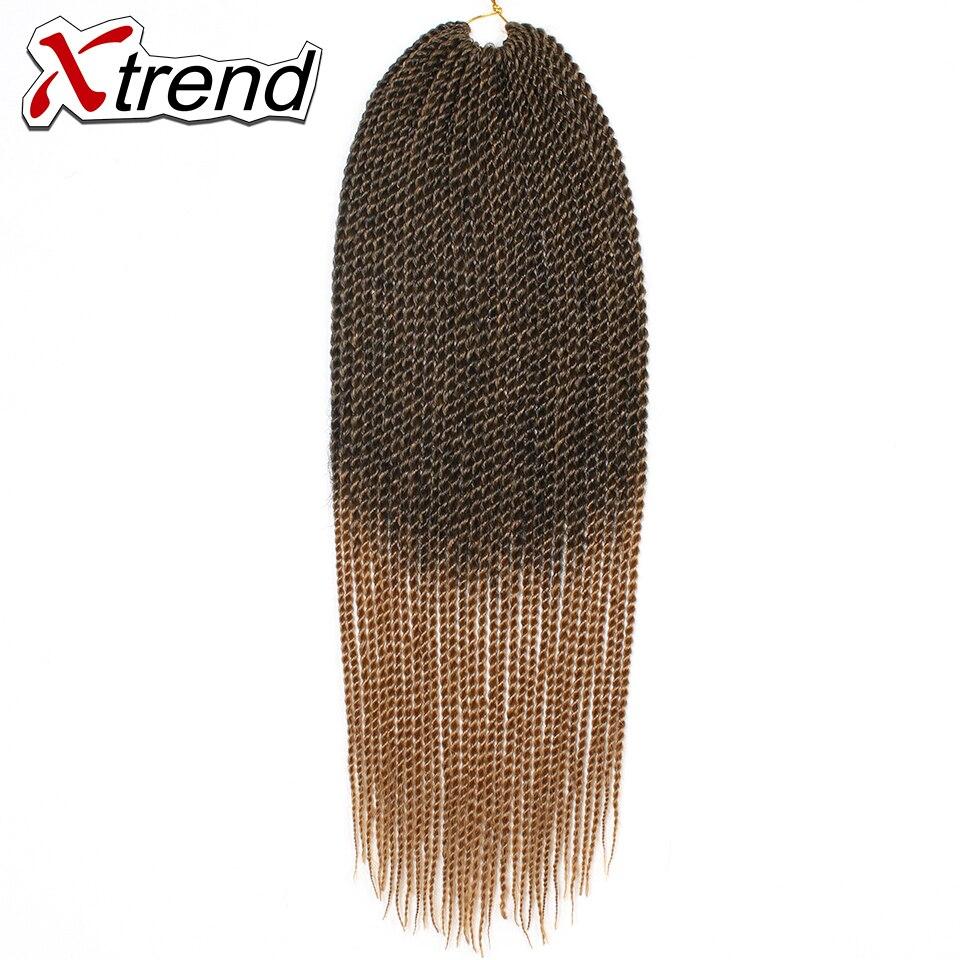 Xtrend 22 \'\'30 корни Сенегальский Крутить Волосы Крючком Наращивание Ломбер Моноволокно Джамбо Коса Синтетические Волосы Для Плетения 13 Цветов