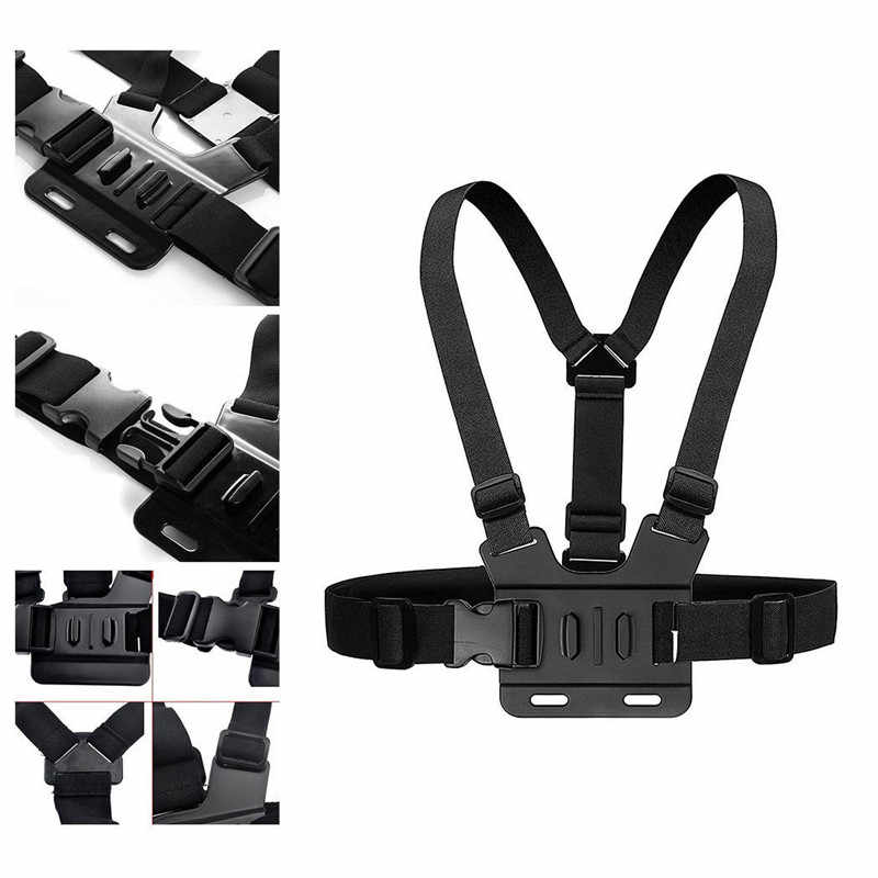 Комплект для крепления нагрудного ремня для Go Pro Hero 7 6 5 полностью регулируемый нагрудный ремень для Gopro Session/4/3/HD оригинальные камеры черного и серебристого цвета