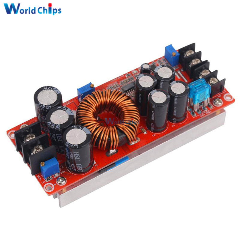 DC 20A 1200W Step-Up Boost Constant Current Module Variable Voltage Power Supply IN 8-60V Step Up Module Top Quality