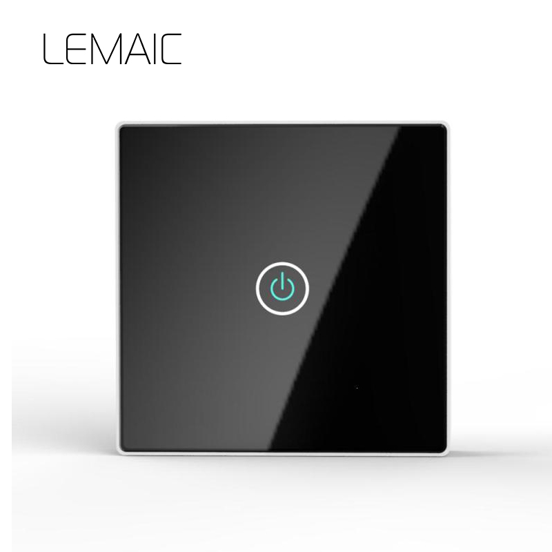 LEMAIC EU/UK StandardRemote Control Switch 1 Gang 1 Way Smart Wall Switch Wireless remot ...