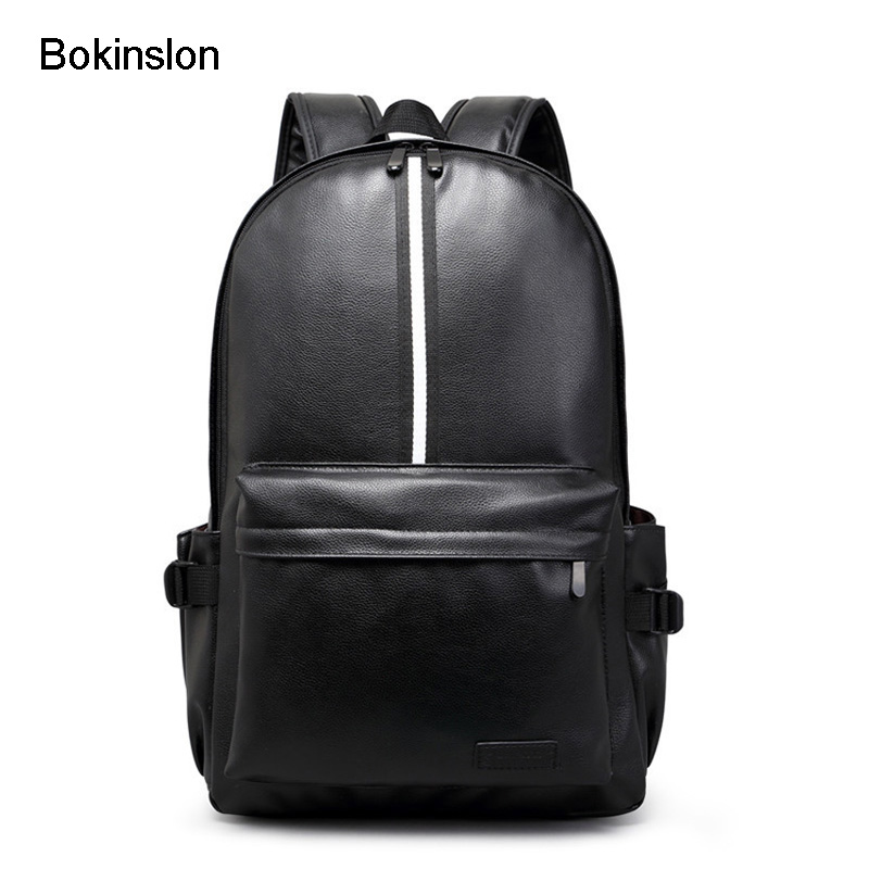 Bokinslon Women Backpack Bag Fashion PU Leather Womens Brand Backpack College Wind Casual Women's Travel Backpack women backpack fashion pvc faux leather turtle backpack leather bag women traveling antitheft backpack black white free shipping