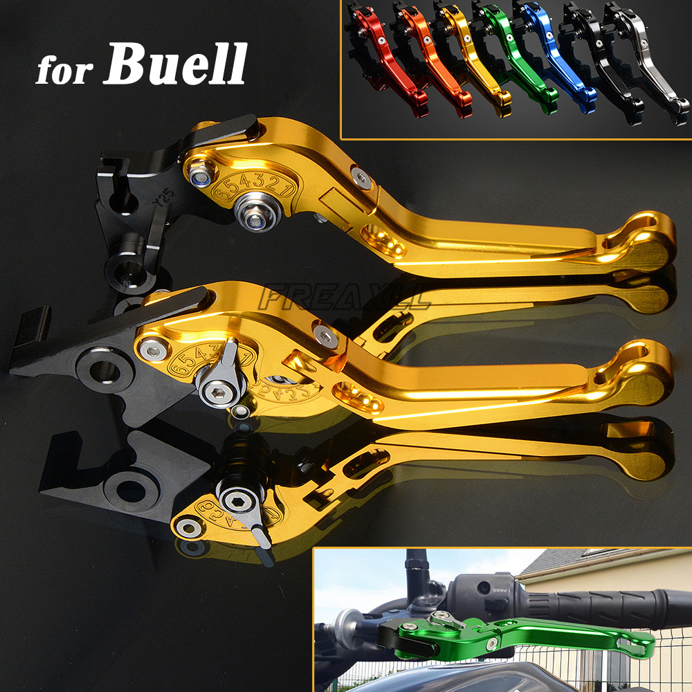 CNC Aluminum Motorbike Levers Motorcycle Brake Clutch Levers Foldable Extendable For <font><b>Buell</b></font> 1125CR 1125R <font><b>1125</b></font> CR R 2008 2009 image