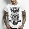 2016 Spring Summer for T Shirt Men Casual O-Neck Short Sleeve T-shirt Print White T Shirts Design Man Tops Tees