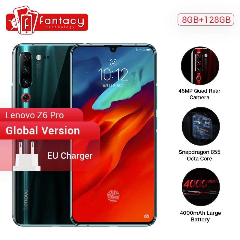 "Global Version Lenovo Z6 Pro 8GB 128GB Smartphone Snapdragon 855 Octa Core 6.39"" 1080P Display Fingerprint Rear 48MP Quad Camera"