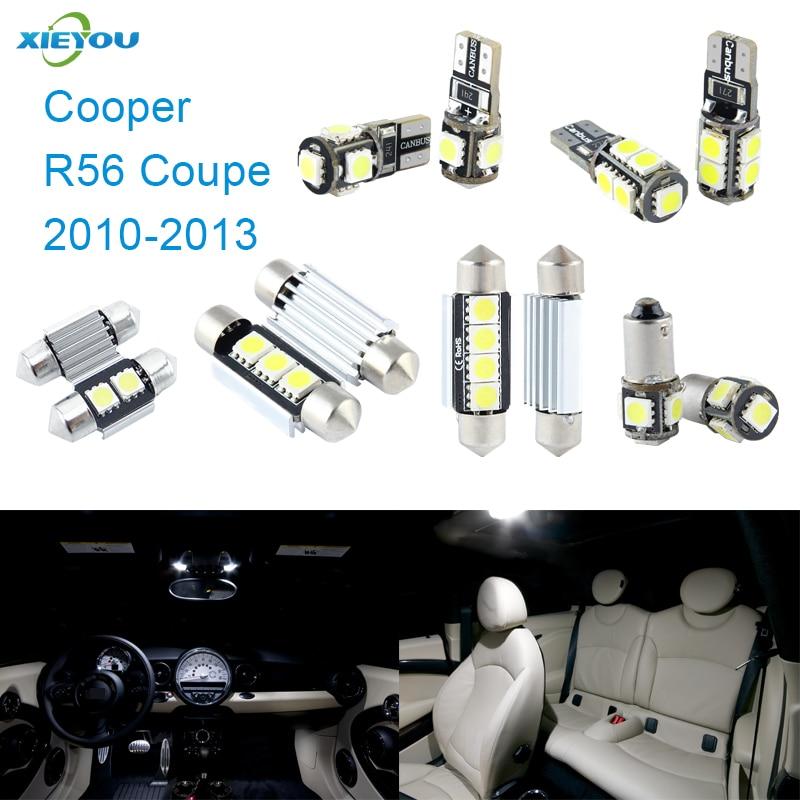 XIEYOU 11ks LED sada pro osvětlení interiéru Canbus pro Cooper R56 Coupe (2010-2013)