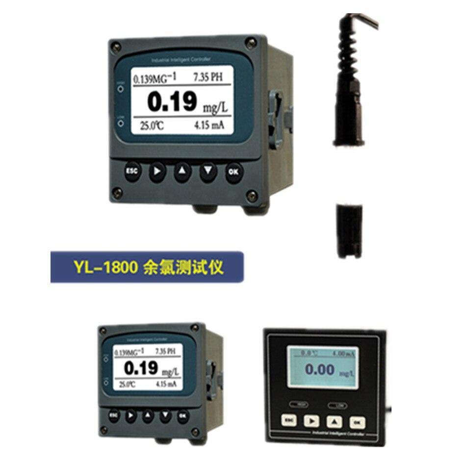 Testeur de compteur de chlore résiduel de YL-1800 avec contrôleur de capteur de ph-mètre