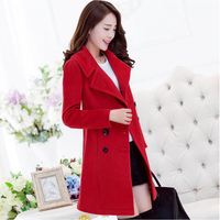 2016 Women S Autumn And Winter New Korean Slim Was Thin Wool Coat In The Long