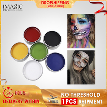 Environmental health Face Paint Body Makeup Art Painting Drawing Pigment Glow Color Fancy Paint Party Halloween Fancy Carnival party cosplay zombie teeth 6 color face body painting pigment white red multi color