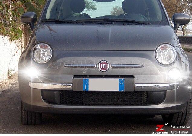 Lampadina Luci Diurne Fiat 500 : Fari fanali anteriori con luci diurne fiat grande punto neri led
